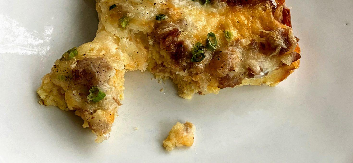 Cheesy Sausage Overnight Casserole