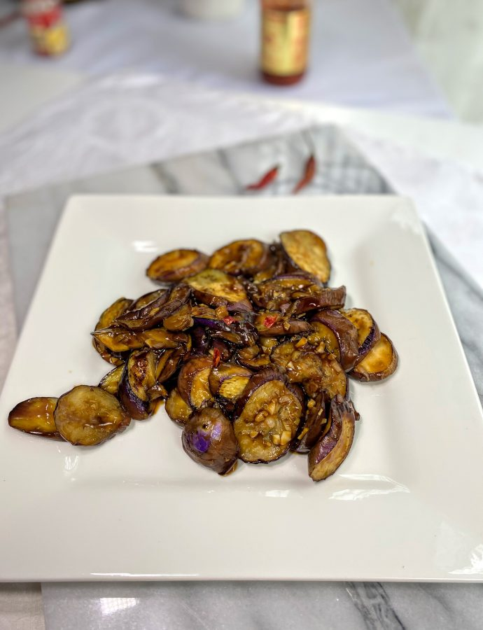Stir Fried Chinese Eggplant with Garlic Sauce