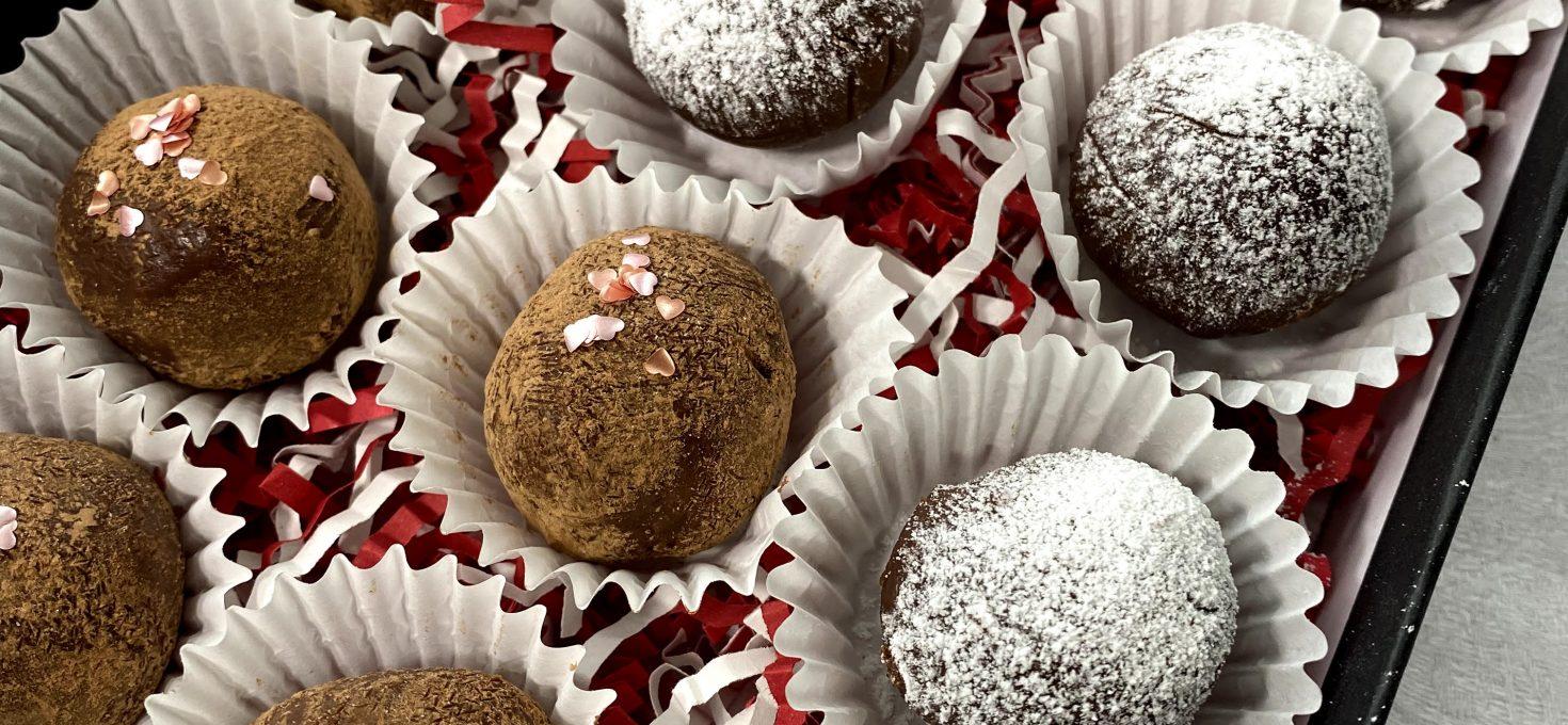 Valentine's Day Milk Chocolate Espresso Truffles