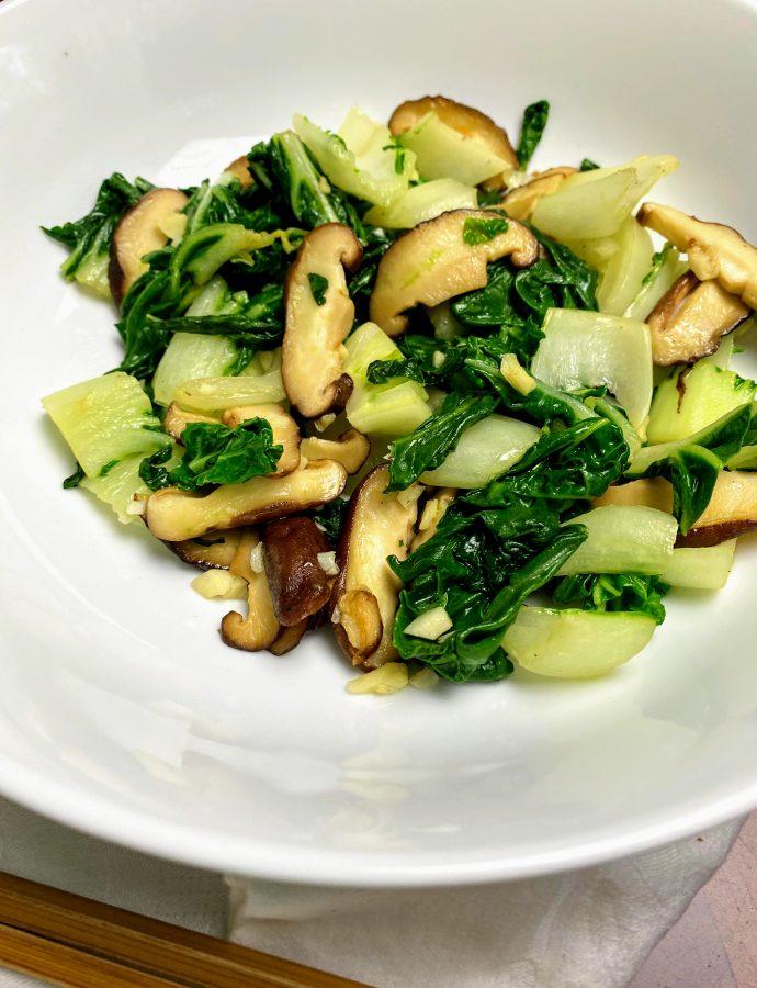 Bok Choy & Shiitake Mushroom Saute